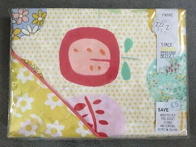 Next- Pack Of Single Piped Edge Bedset With Colourful Apple/Flower Design - Bnwt