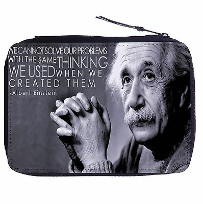 Albert Einstein Quote Color Pen Case Bag Stationery Kit