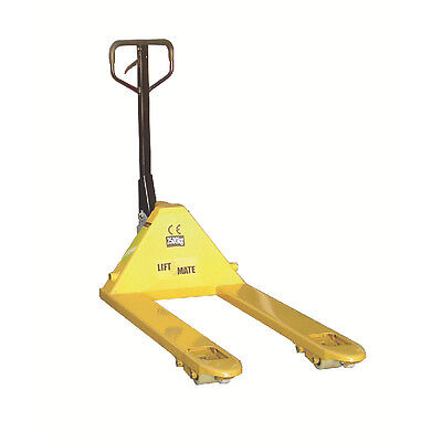 Quick Lift Pallet Truck 680x1200mm 2.5 Tonne Capacity Yellow 388960
