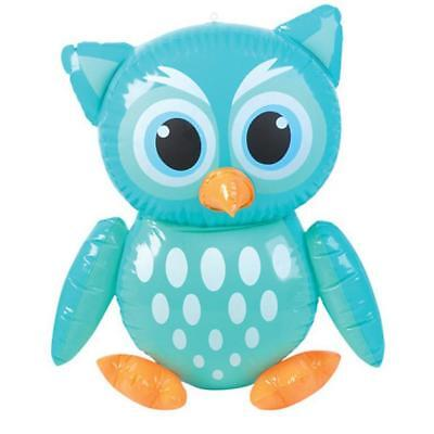 Inflatable Green Owl Bird Blow Up Animal Inflate Novelty Party Toy