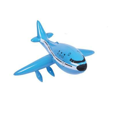 """20"""" Blue Inflatable Aeroplane 747 Passenger Plane  - Blow Up Jet Kids Party Toy"""