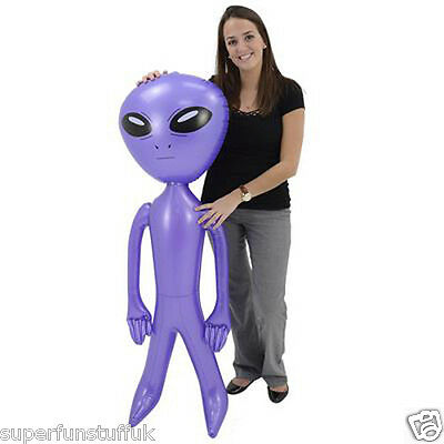 5 Ft Tall Giant Jumbo Inflatable Blue Alien Blow Up Space Party Novelty Toy