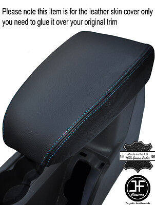 Blue Stitching Leather Armrest Cover Fits Ford Focus Mk2 2005-2008