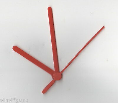 Replacement Clock Hands in Red, Black or White (80mm Minute Hand)