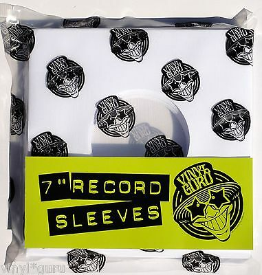 "Vinyl Guru 7"" inch 45RPM Vinyl Record Paper Sleeves Covers Any Quantity / Colour"