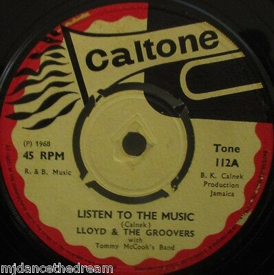 """LLOYD & THE GROOVERS - Listen to The Music ~ 7"""" Single"""