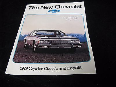 Vintage 1979 New Chevrolet Caprice Classic and Impala Brochure 14 pgs.