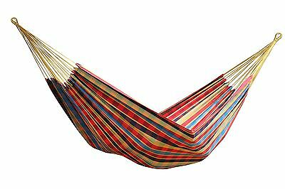 Vivere Brazilian Style Single Hammock for Camping or Outdoors, Cotton | BRAZ123