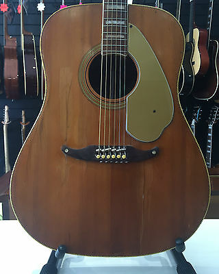 Fender Vintage Wildwood IV Acoustic Guitar 1966 Made In USA