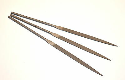 3 NOS PS STUBBS UK Made Watchmakers Jewelers NEEDLE WARDING  FILES 0 Cut  EB4G.3