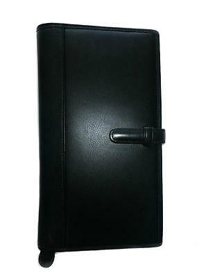 New Coach Vtg Classic Blk Leather Travel Organizer Document Business Long Wallet
