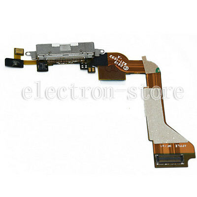 Charging Port USB Dock Connector Flex Cable Repair Part For iPhone 4 4G