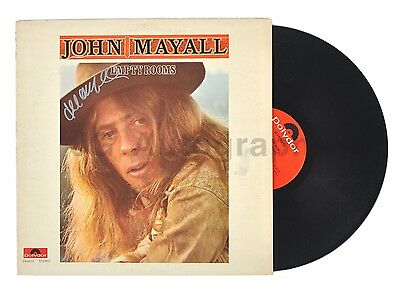 """John Mayall - Legendary Blues Musician - Autographed """"Empty Rooms"""" Record"""