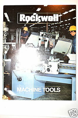 ROCKWELL MACHINE TOOLS CATALOG AD-2660 1972 #RR331 saw mill grinder lathe feeds