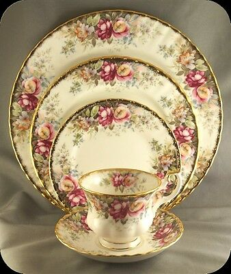 Royal Albert Autumn Roses 5 Pc Place Setting (two sets available)