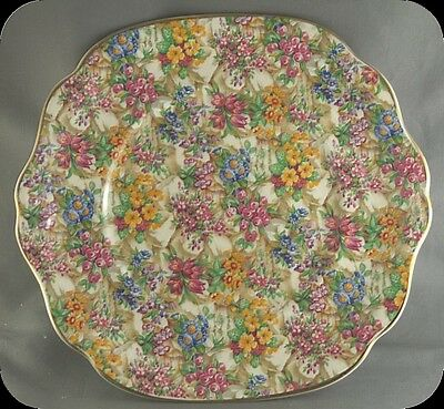 James Kent Chintz Crazy Paving Cake Plate