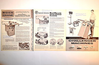 Boice Crane Brochure Bc-205 & Bc-206 Challenger Machine Power Tool Catalog Rr819