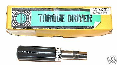 "MINT Assembly Systems JAPAN 1/4"" DR TORQUE Screw DRIVER 1""/LBS 3-5/8"" 0AL"
