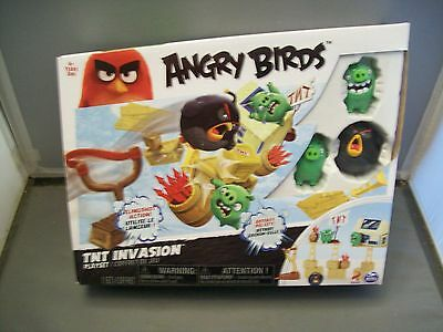 NIB Angry Birds TNT Invasion Playset With Slingshot Action