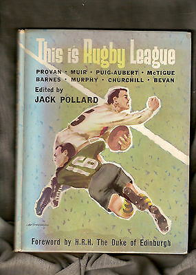 Rugby League Book - 1962 This Is Rugby League, Jack Pollard