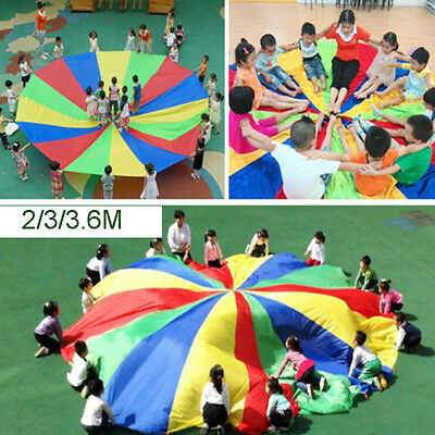 Kids Play Rainbow Parachute Outdoor Game Family Exercise Sport Toy 3.6M