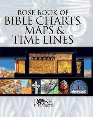 Rose Book Of Bible Charts, Maps, And Time Lines [Spiral-Bound] [2015] - New Book
