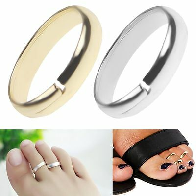 Fashion Women Simple Toe Ring Adjustable Open Mouth Foot Beach Jewelry Gift
