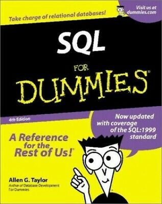 SQL For Dummies by Taylor, Allen G. Paperback Book The Cheap Fast Free Post