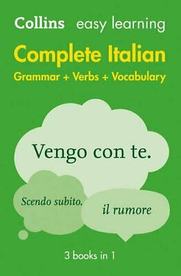 Easy Learning Complete Italian Grammar, Ver... by Collins Dictionaries Paperback
