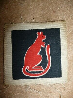 7th Armoured Division WW2 Scarcer Printed Patch, 1943 issue - UK / GB
