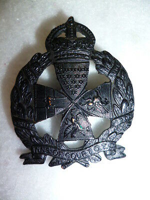 Inns of Court Yeomanry O.T.C. Officer's Blackened KC Cap Badge