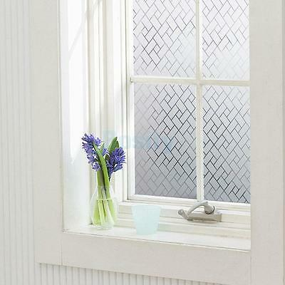 Bathroom Window Privacy Static Cling Frosted Glass Film Stickers Geometric
