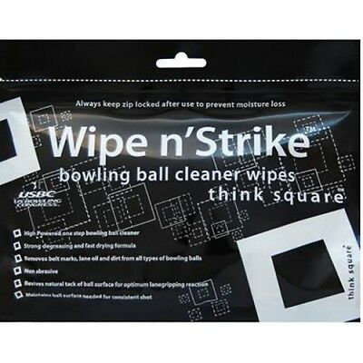 Wipe n'Strike Bowling ball Cleaner wipes 24Stk/Pack Reclosable