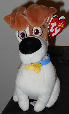 Ty Beanie Baby - MAX (The Secret Life of Pets Movie) Dog ~ NEW for 2016 ~IN HAND