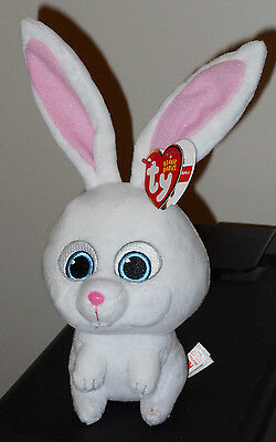 Ty Beanie Baby - SNOWBALL (The Secret Life of Pets Movie) Bunny NEW 2016 IN HAND