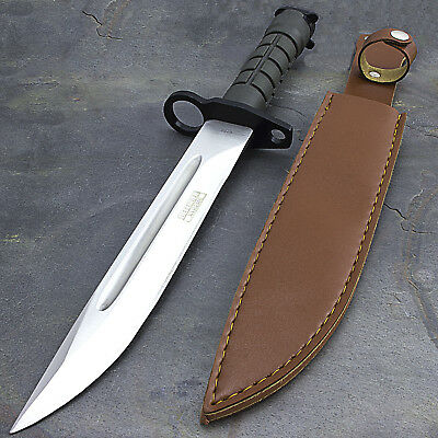 "13.5"" BAYONET US MILITARY COMBAT KNIFE w/ SHEATH Survival Hunting Rambo Army"