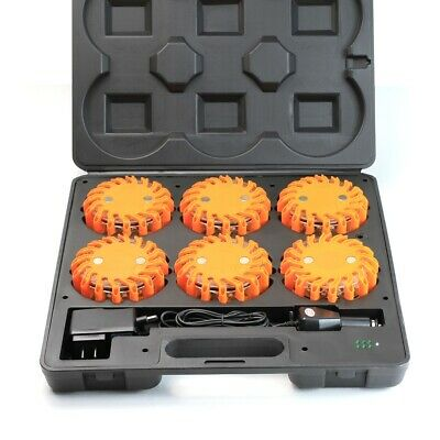 6PC LED Emergency Safety Kit Tool Strobe Light Flare Road Magnetic Base Car Boat