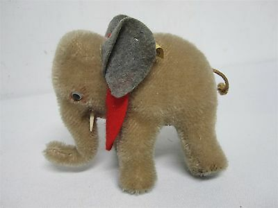 """Vintage Steiff Made In Us Zone Germany 4"""" Miniature Mohair Elephant 6310.0"""
