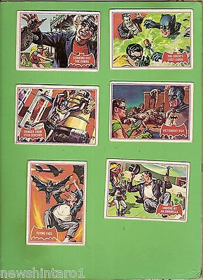 #d245.  Scanlens 1966 Batman Red Bat Cards  26, 27, 28, 29, 30, 31