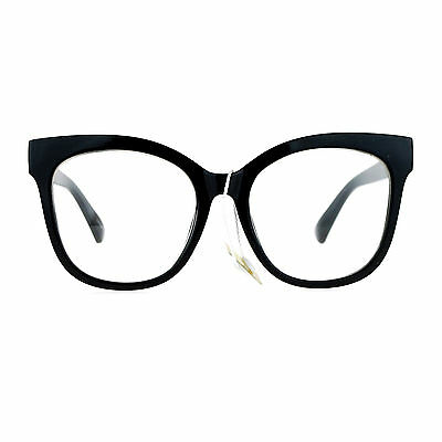 aa5fdb64e3 Womens Clear Lens Glasses Super Oversized Square Butterfly Frame UV 400