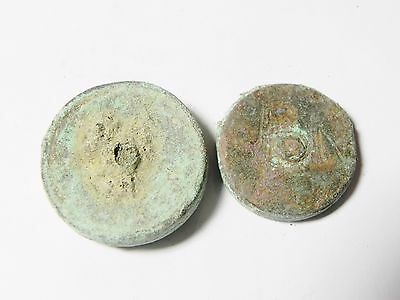 Zurqieh -Aa1980- Byzantine. Lot Of 2  Bronze Weights 6 Th Cent. A.d