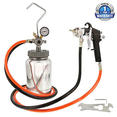 New 2 Quart PAINT PRESSURE POT TANK SPRAY GUN SPRAYER