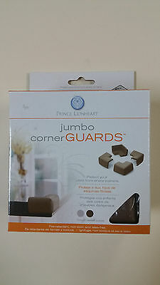 jumbo Corner Guards 4 pcs for Baby Safety  - chocolate color  Prince Lionheart