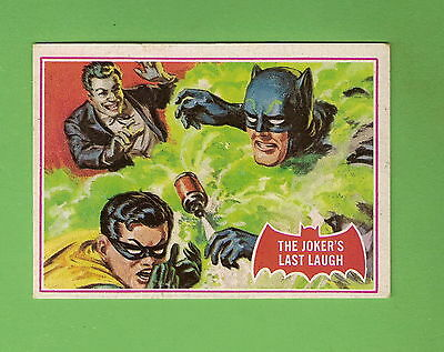 Scanlens 1966 Batman Red Bat Card #26A  The Joker's Last Laugh