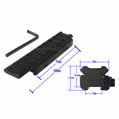 New Dovetail Rail Extension 11mm to 20mm Weaver Adapter
