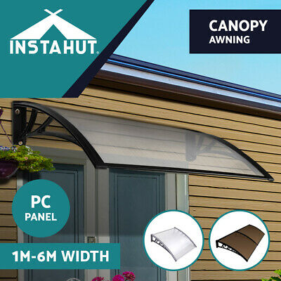 1-6M DIY Window Door Awning Canopy Patio UV Rain Cover Outdoor Sun Shield