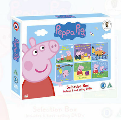 Peppa Pig Selection Box (New Shoes, Potato city) 6 Best Selling DVD's Collection