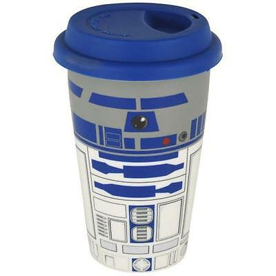 Star Wars - R2D2 Ceramic 6 Inch Travel Mug With Silicon Lid - New & Official