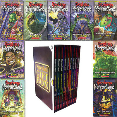 R L Stine Goosebumps Horrorland(1-9)9 Books Collection Gift Wrapped Slipcase New