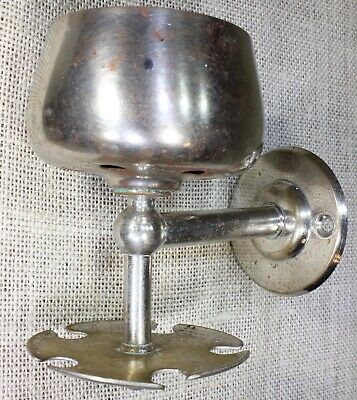 Cup Tumbler & 5 toothbrush Holder nickel brass old vintage  1920's bathroom